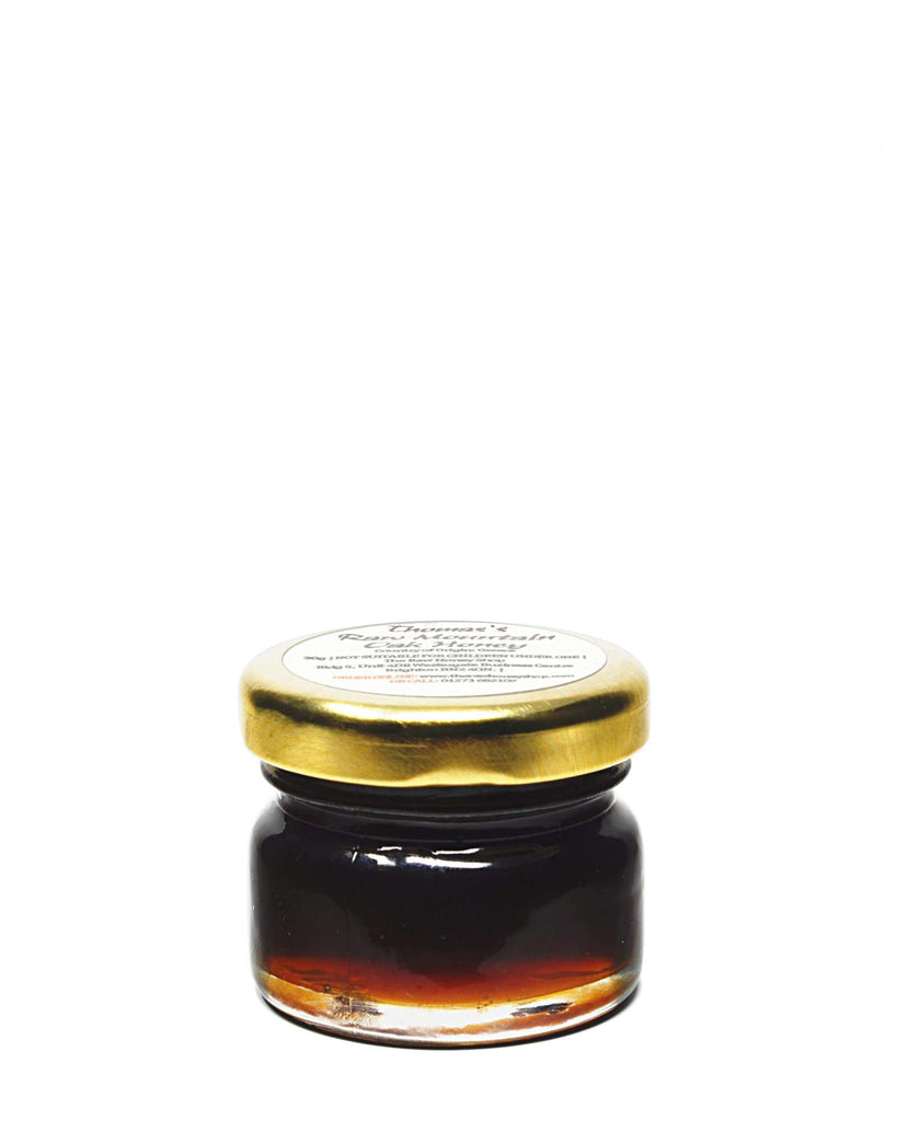 Pure and Natural Artisan Raw Greek Mountain Oak Honey Tester - 30g - The Raw Honey Shop