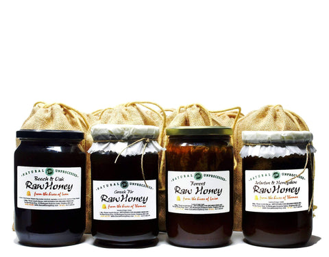 Winter Raw Honey Gift Bundle - (Forest, Fir, Arbutus & Honeydew, Beech & Oak)