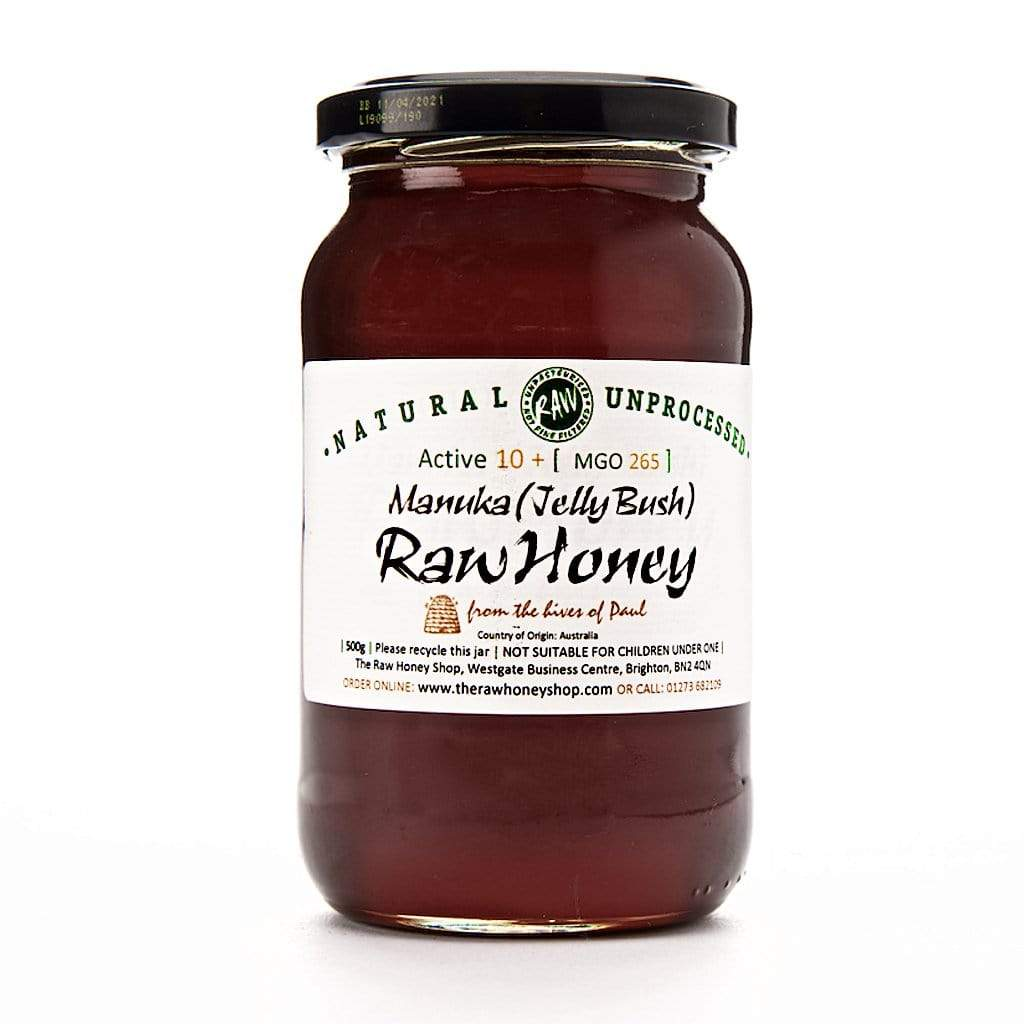 Pure and Natural Raw Manuka Honey - 500g - 10+ - The Raw Honey Shop