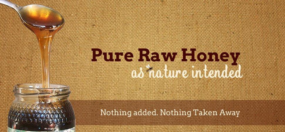 Pure Raw Honey as Nature Intended - Nothing Added, Nothing Taken Away