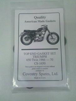 TRIUMPH TOP END GASKET KIT 63-70 650