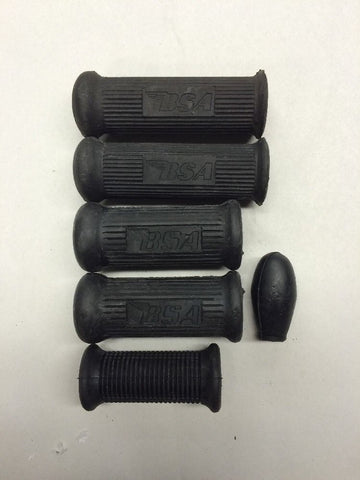 FOOT REST PEG RUBBER SET 1965-71-BSA B25