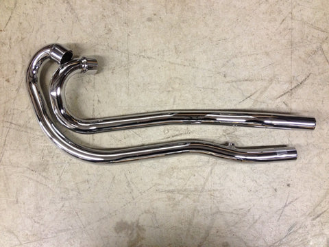 HIGH PIPE EXHAUST 69-70 650-C MODEL. 2 PIPES, LEFT SIDE CHOPPER BOBBER-TRIUMPH