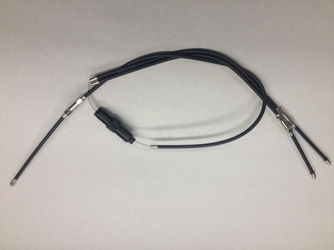 T140 THROTTLE CABLE ASSEMBLY 2 INTO 1-TRIUMPH
