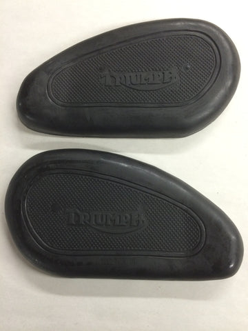 Gas Tank Knee Pads Grips 47-62 500 650 for Triumph 4 Gallon Tanks