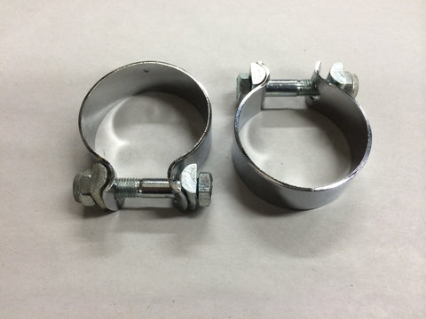 "Muffler Clamps 750 500 with Hardware 1 1/2"" for Triumph *Authentic UK*"