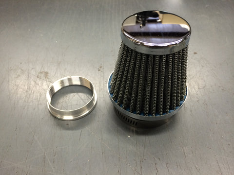 AIR FILTER FOR 900 SERIES AMAL WITH SCREW ON ADAPTER-TRIUMPH