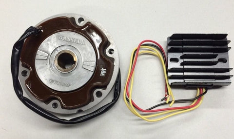 HIGH OUTPUT 12 VOLT ALTERNATOR KIT ROTOR STATOR LUCAS MOST MODELS-TRIUMPH
