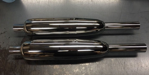 EXHAUST MUFFLERS SILENCERS 1963-1968 650 MODEL SET OF 2-TRIUMPH