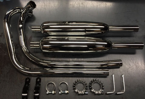 EXHAUST SYSTEM 1963-1970 650 MODEL-TRIUMPH