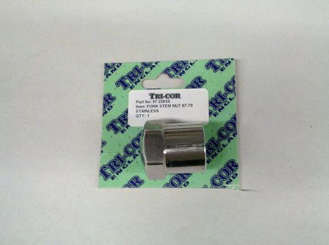 FORK STEM NUT 64-70 650 500 TRI CORE-TRIUMPH, NORTON, BSA