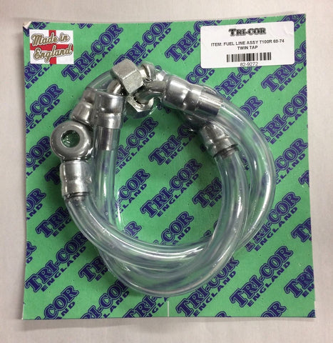 Fuel Line Assembly Dual Carbs T100 Daytona 1968-1973, Triumph