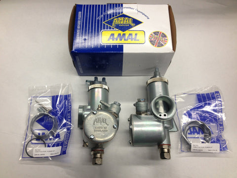 "AMAL MONOBLOC 389 CARB SET CARBURETOR RIGHT- LEFT TRIUMPH 1 1/8"" BORE-TRIUMPH BONNEVILLE"