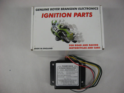 BOYER VOLTAGE REGULATOR BRITISH DYNAMO/GEN 6V NEG