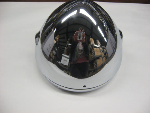 "TRIUMPH HEADLIGHT SHELL 7"" BUCKET WITH RIM T140 OR CUSTOM"