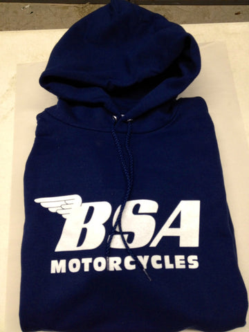 BSA HOODED SWEATSHIRT, NAVY WITH WHITE LETTERING