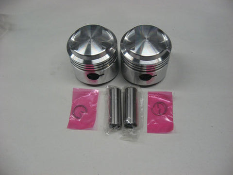TRIUMPH 500 PISTONS 62-68 .020 OVER PISTONS AND RINGS JCC EMGO