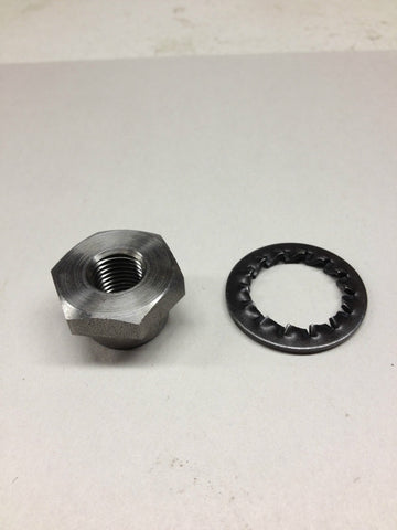 PRIMARY ROTOR NUT AND WASHER T140 TR7 73 AND LATER-TRIUMPH