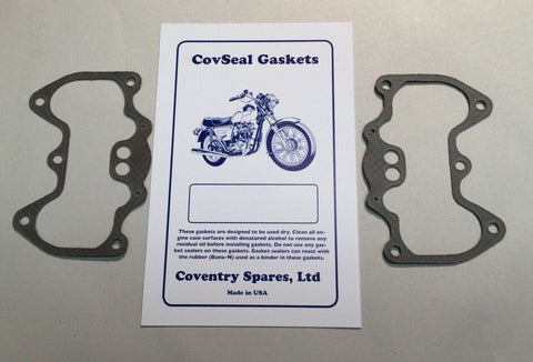 ROCKER BOX GASKETS 71-84 650 750 STAINLESS CORE-TRIUMPH