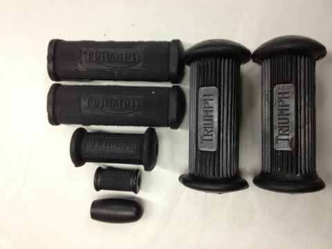 FOOT REST RUBBER SET TRIDENT 69-74 T150-TRIUMPH