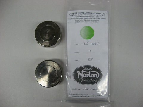 Genuine Norton CALIPER PISTONS FRONT AND REAR 73 AND UP STAINLESS