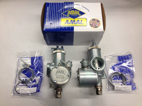 "T120TT Amal monobloc 389 carb set carburetor set right-left 1 3/16"" bore Triumph T120 TT"