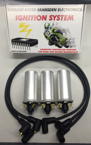 TRIDENT IGNITION KIT WITH 6 VOLT COILS AND PLUG WIRES-TRIUMPH