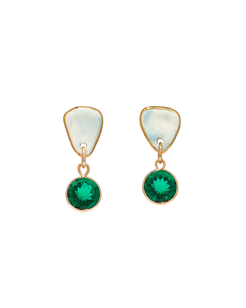 Mini Emerald Earrings