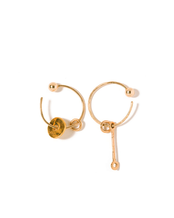 Alice Hoop Charm Earrings