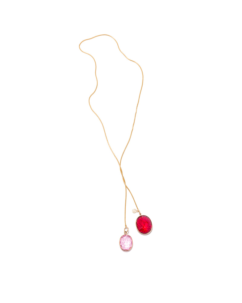 Waltz Necklace in Pink and Ruby