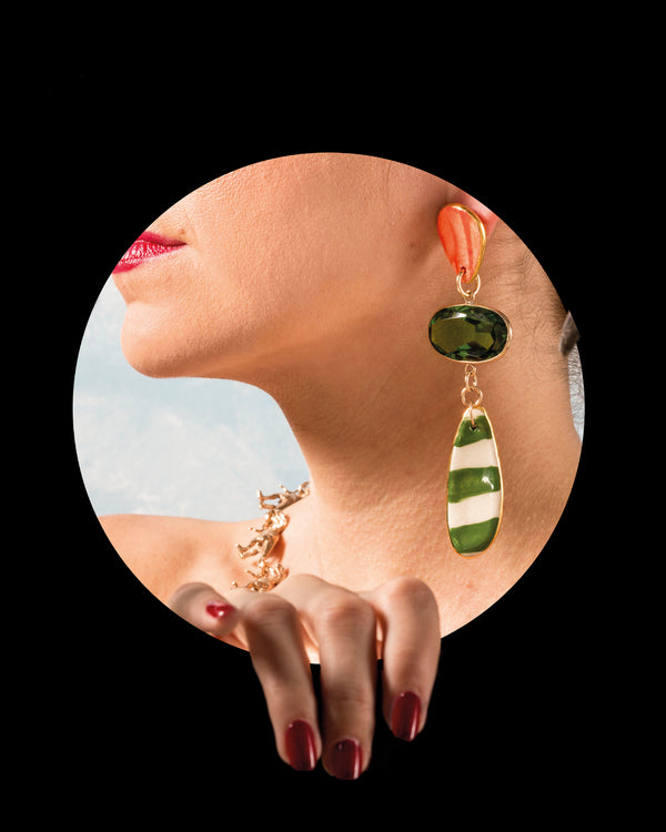 Surrealist Twist Earring