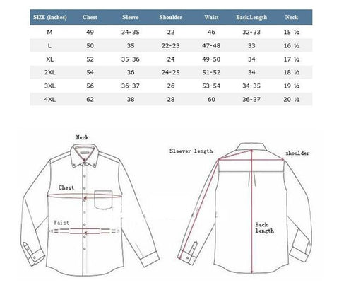 Dress Shirt Sizing Guide