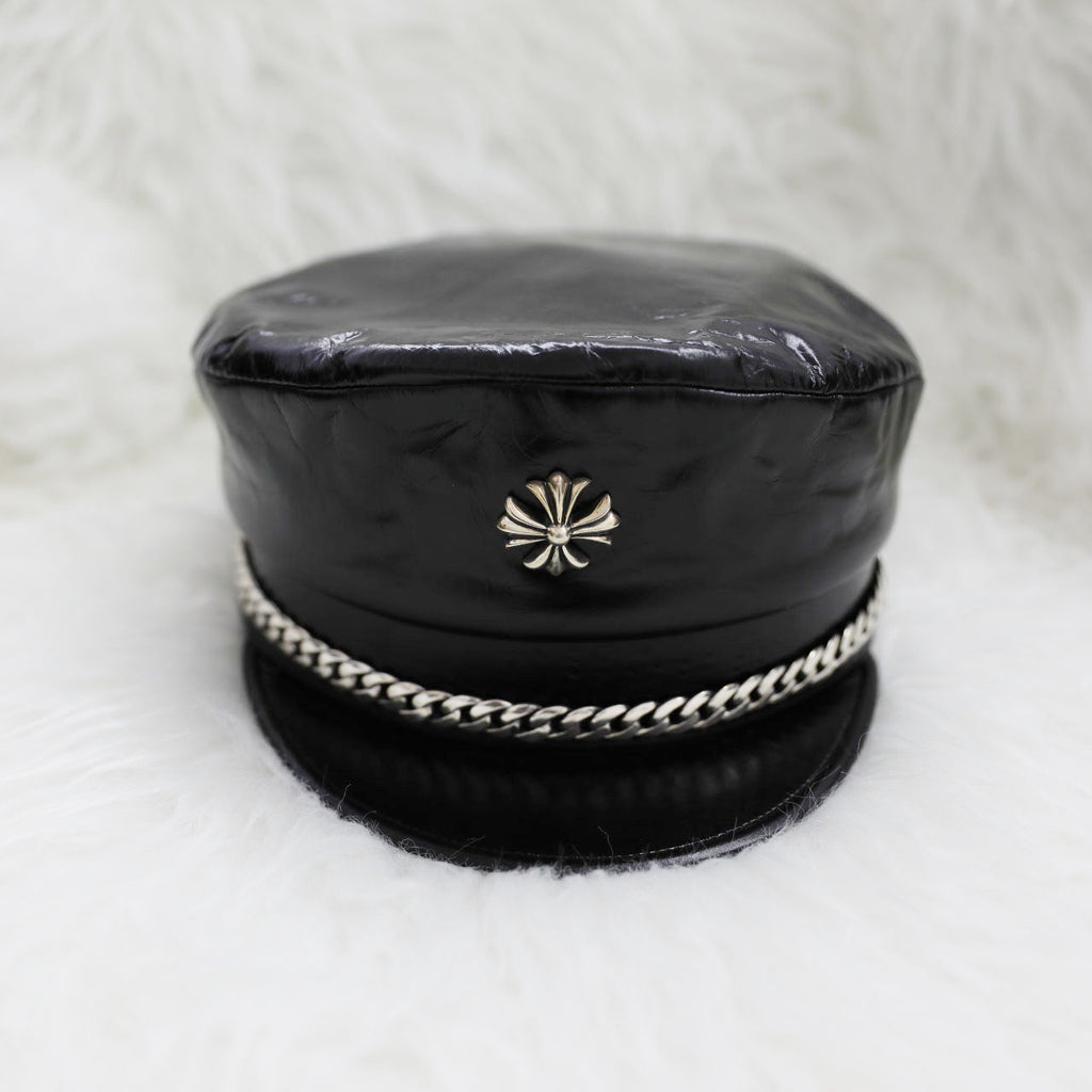 Chrome Hearts Captain Stabbin Hat in Patent Leather
