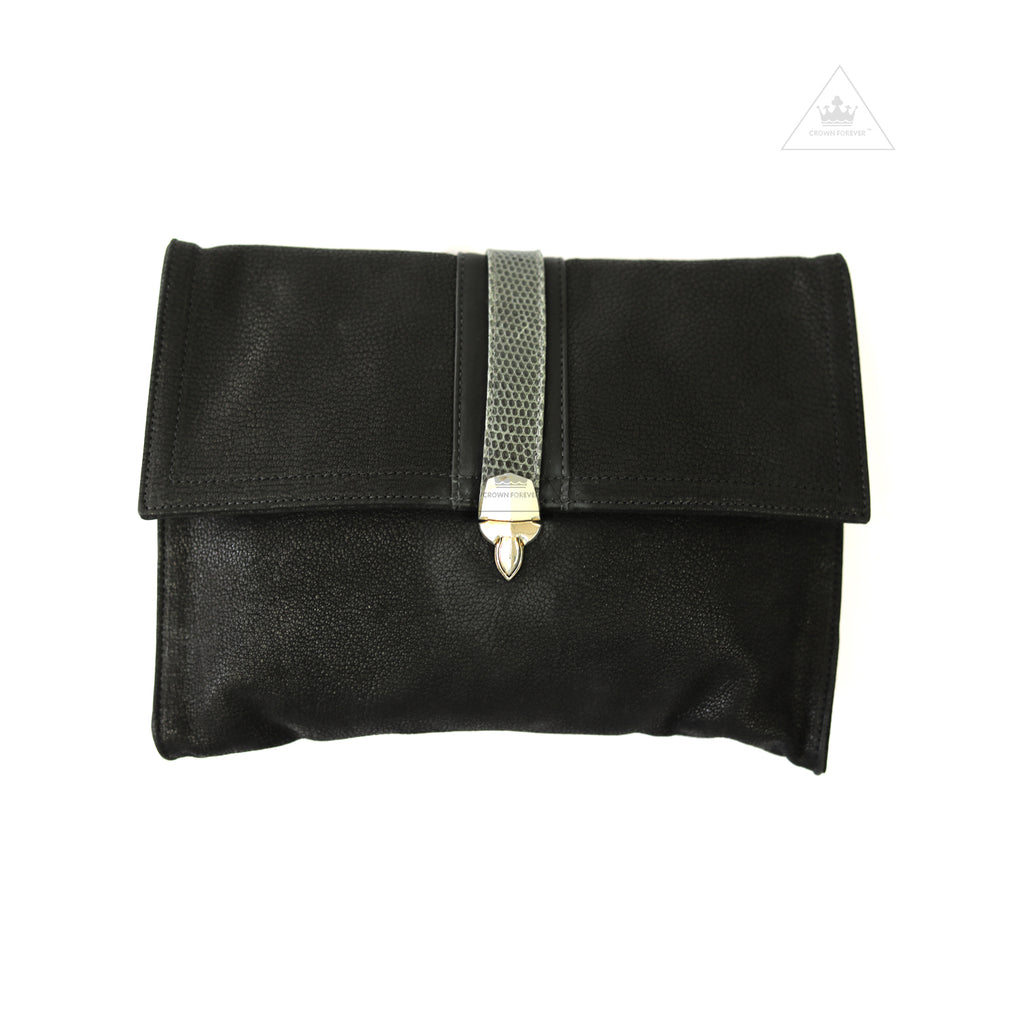 Chrome Hearts Leather Clutch