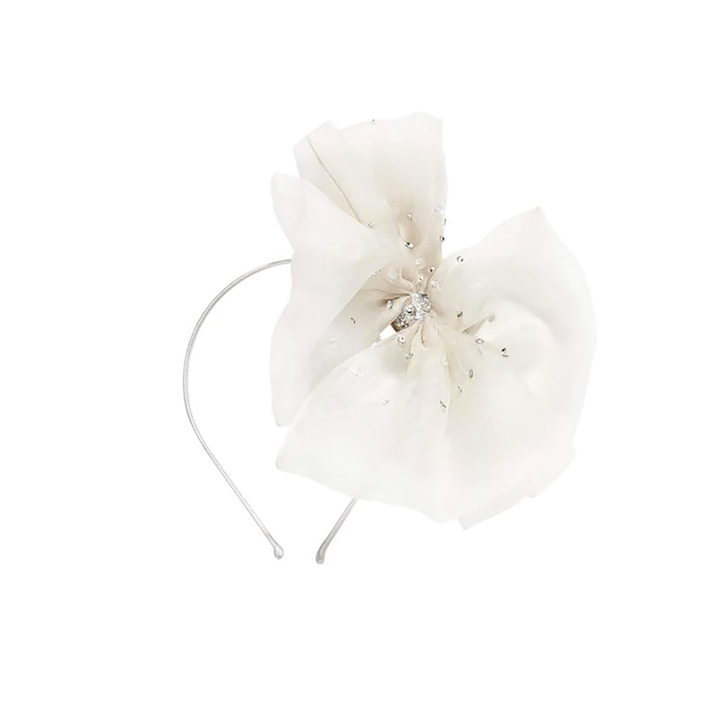 Tutu Du Monde Crystal Bow Headband Milk