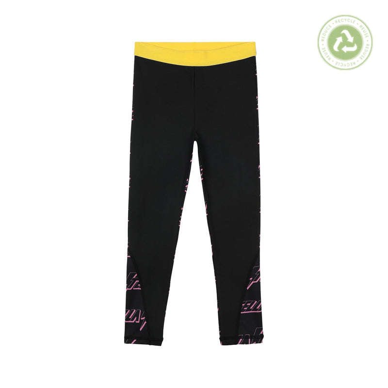 Stella McCartney Kids Girl Lightning Logo Jersey Sport Leggings