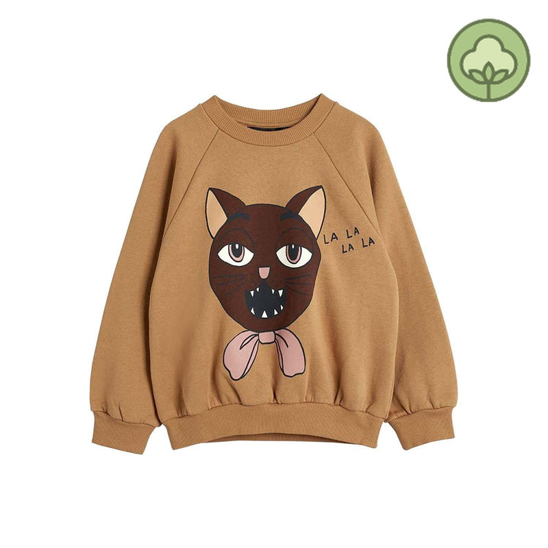 Mini Rodini Cat Choir SP Kids Sweatshirt Beige