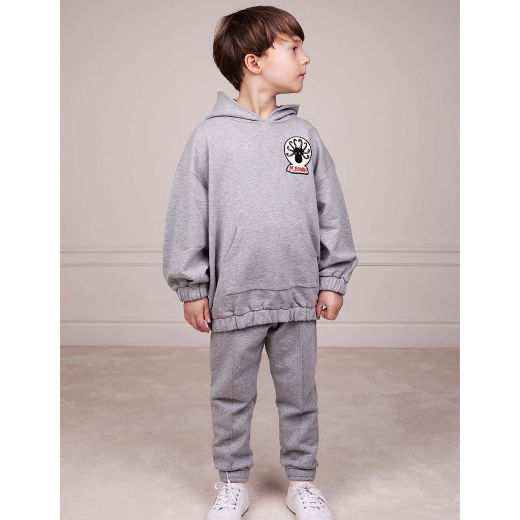 Mini Rodini Octopus Kids Sweatpants Grey Melange