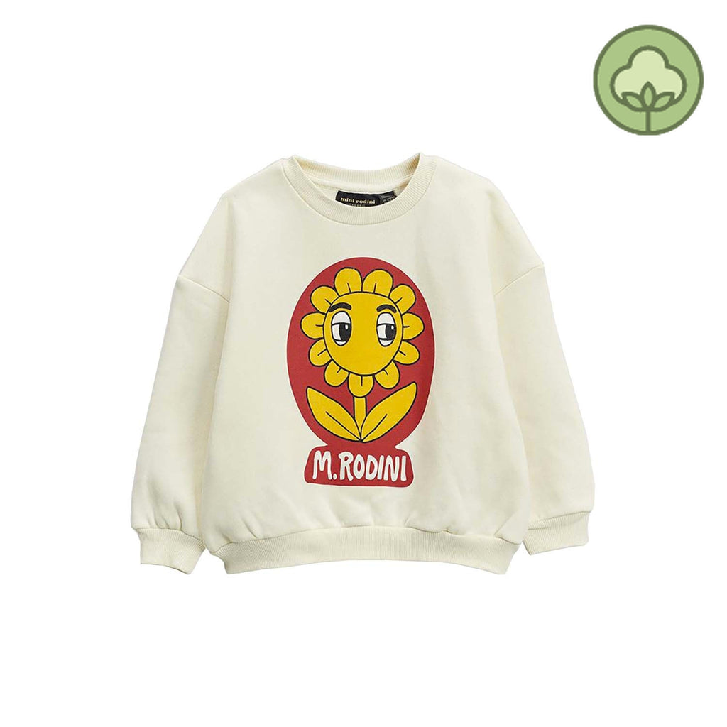 Mini Rodini Flower SP Kids Sweatshirt Offwhite