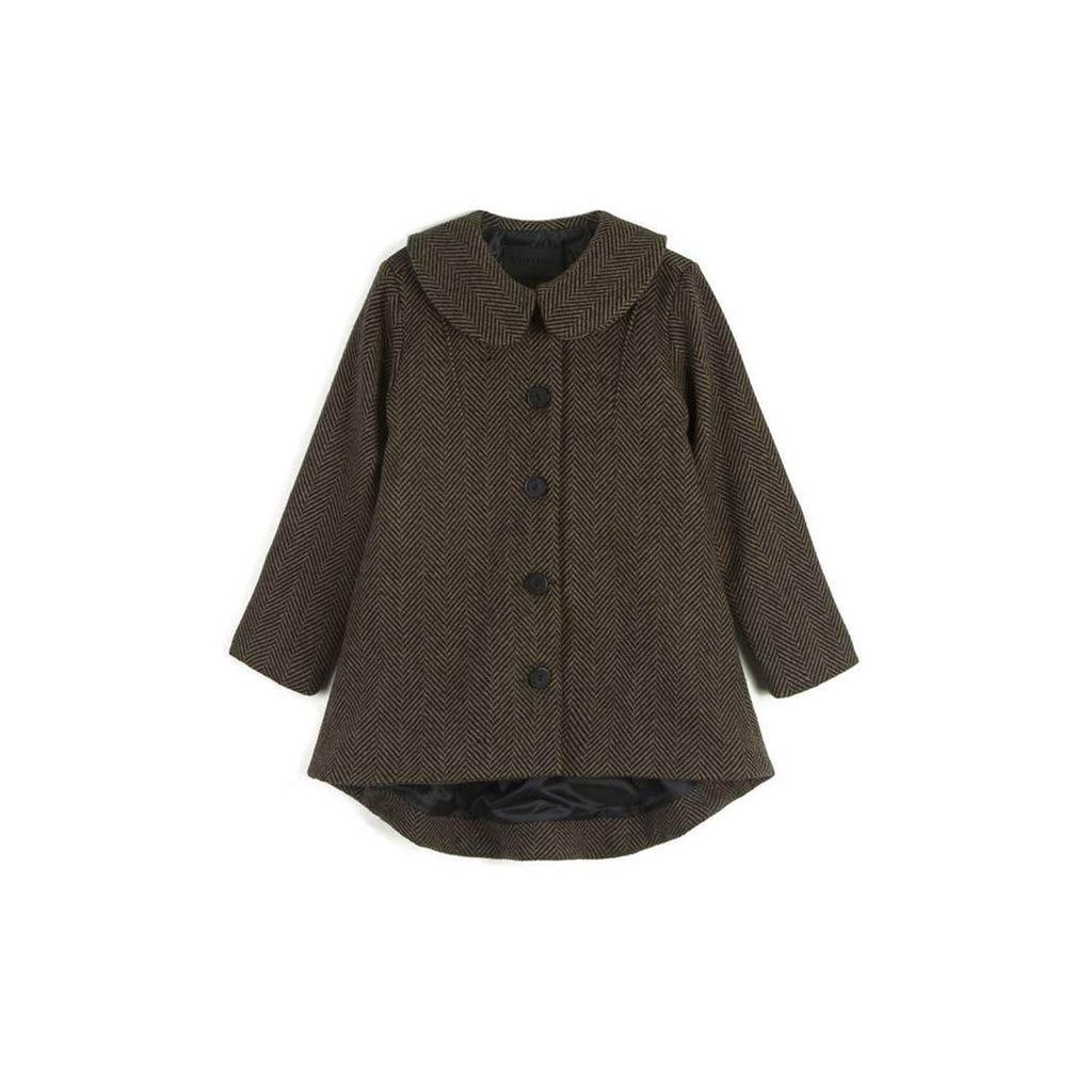 Wolf and Rita Kids Girl Coat Cidalia Herringbone