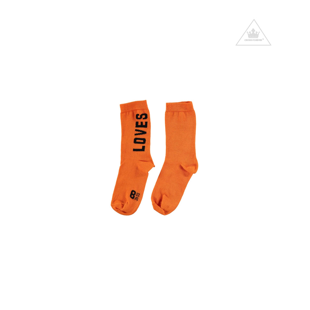 Beau Loves Ankle Socks, Orange, Loves
