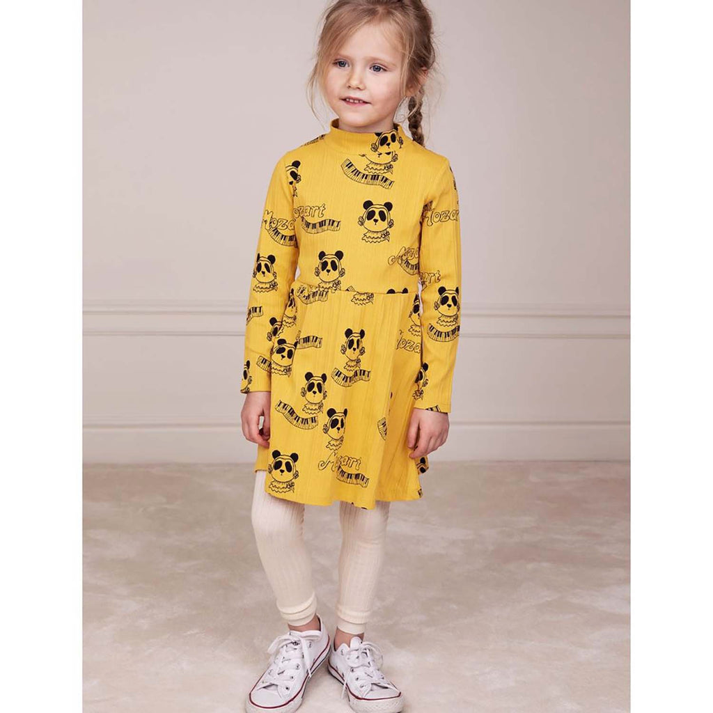 Mini Rodini Mozart Kids Dress Yellow