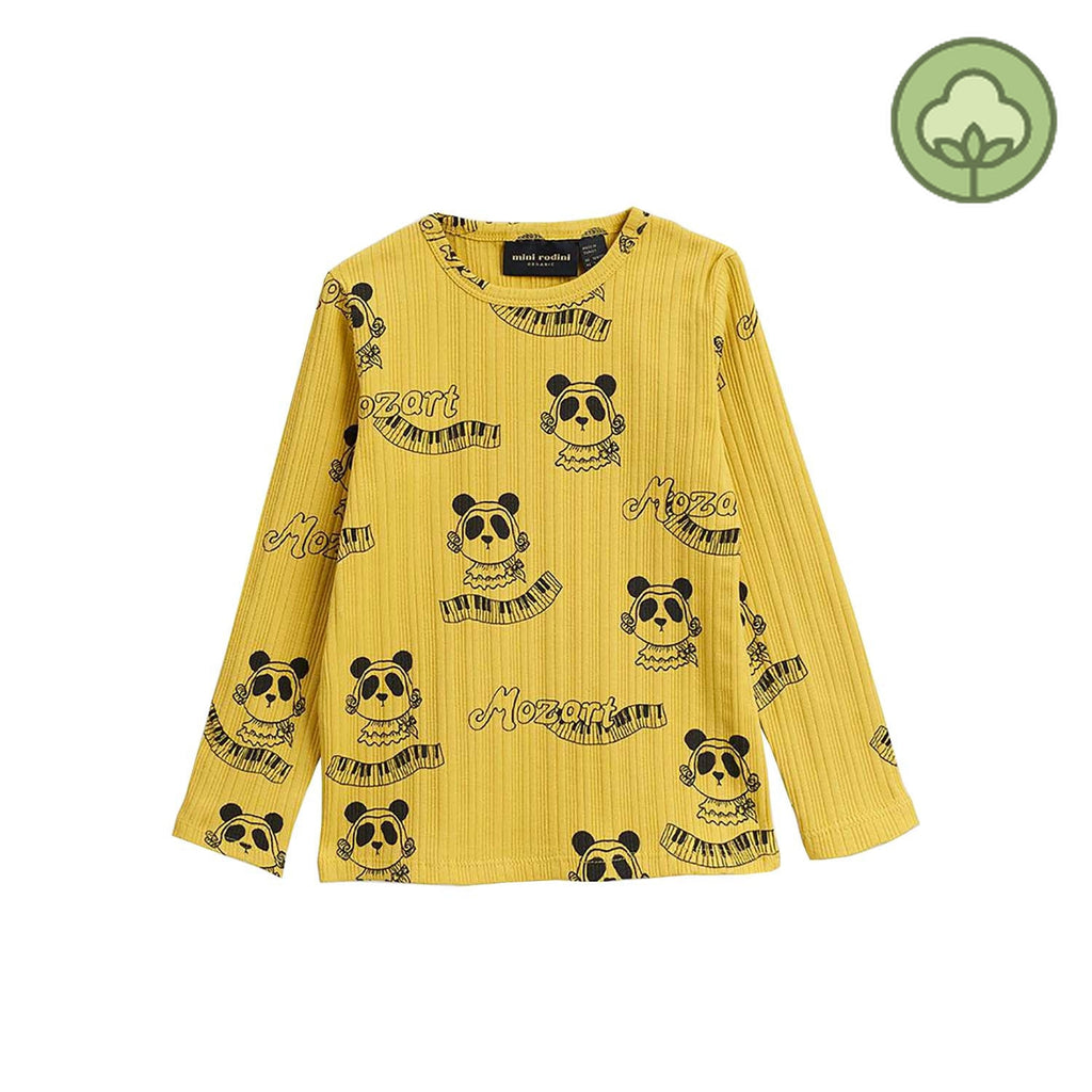 Mini Rodini Mozart Kids Long Sleeve Shirt Yellow