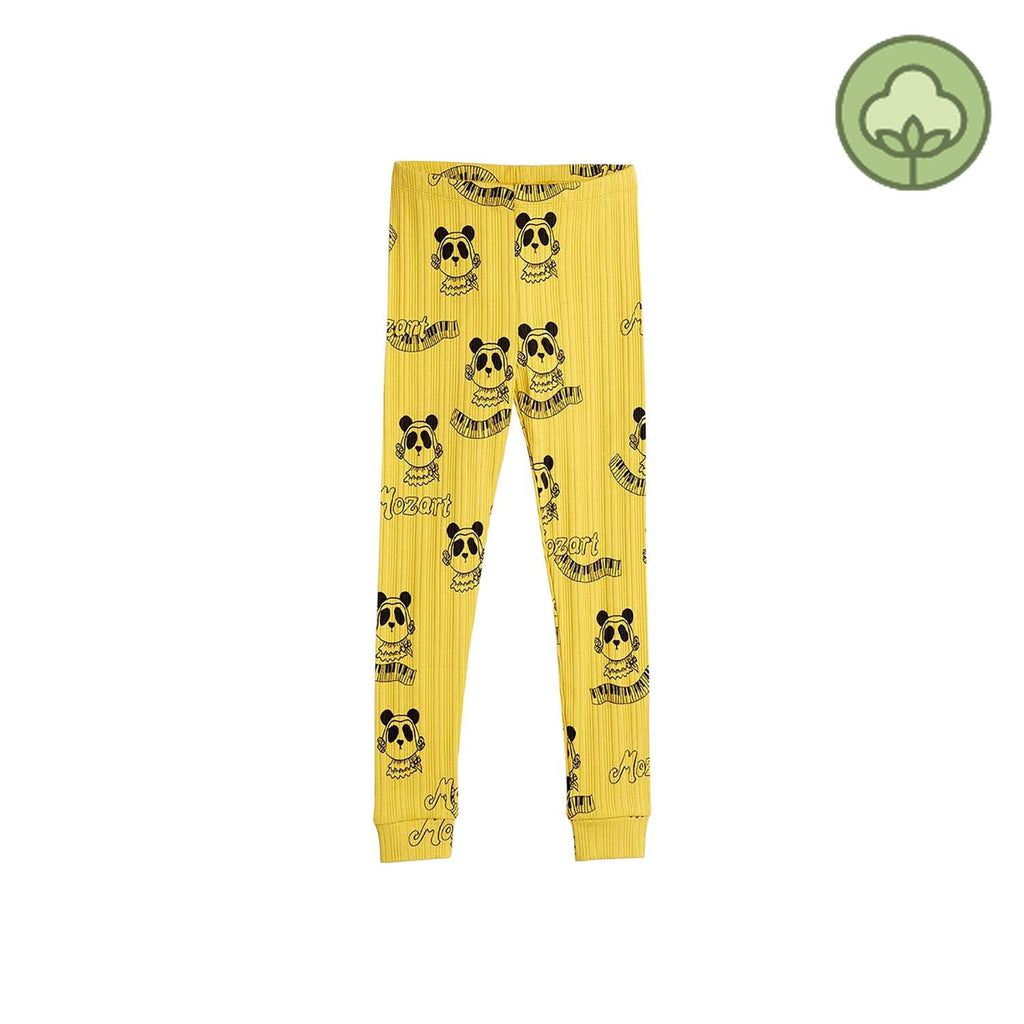 Mini Rodini Mozart Kids Leggings Yellow