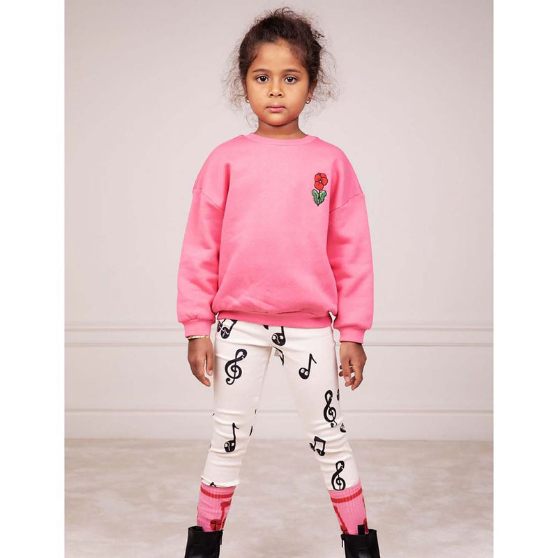 Mini Rodini Note Kids Leggings Offwhite