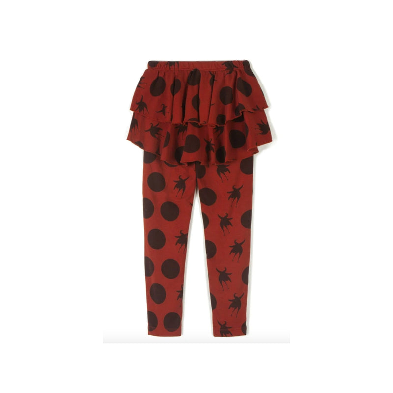 Wolf and Rita Kids Leggings Ana Disco Bird Orange