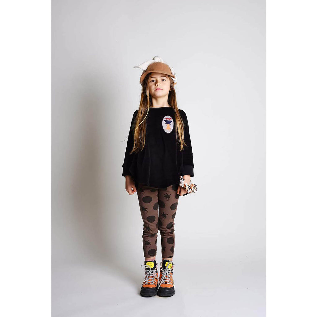 Wolf and Rita Kids Leggings Ana Disco Bird Bege