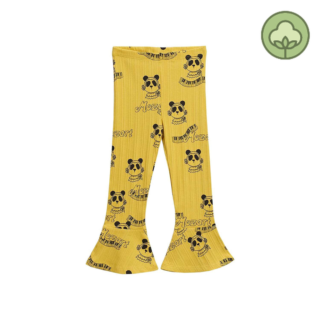 Mini Rodini Mozart Flared Kids Pants Yellow