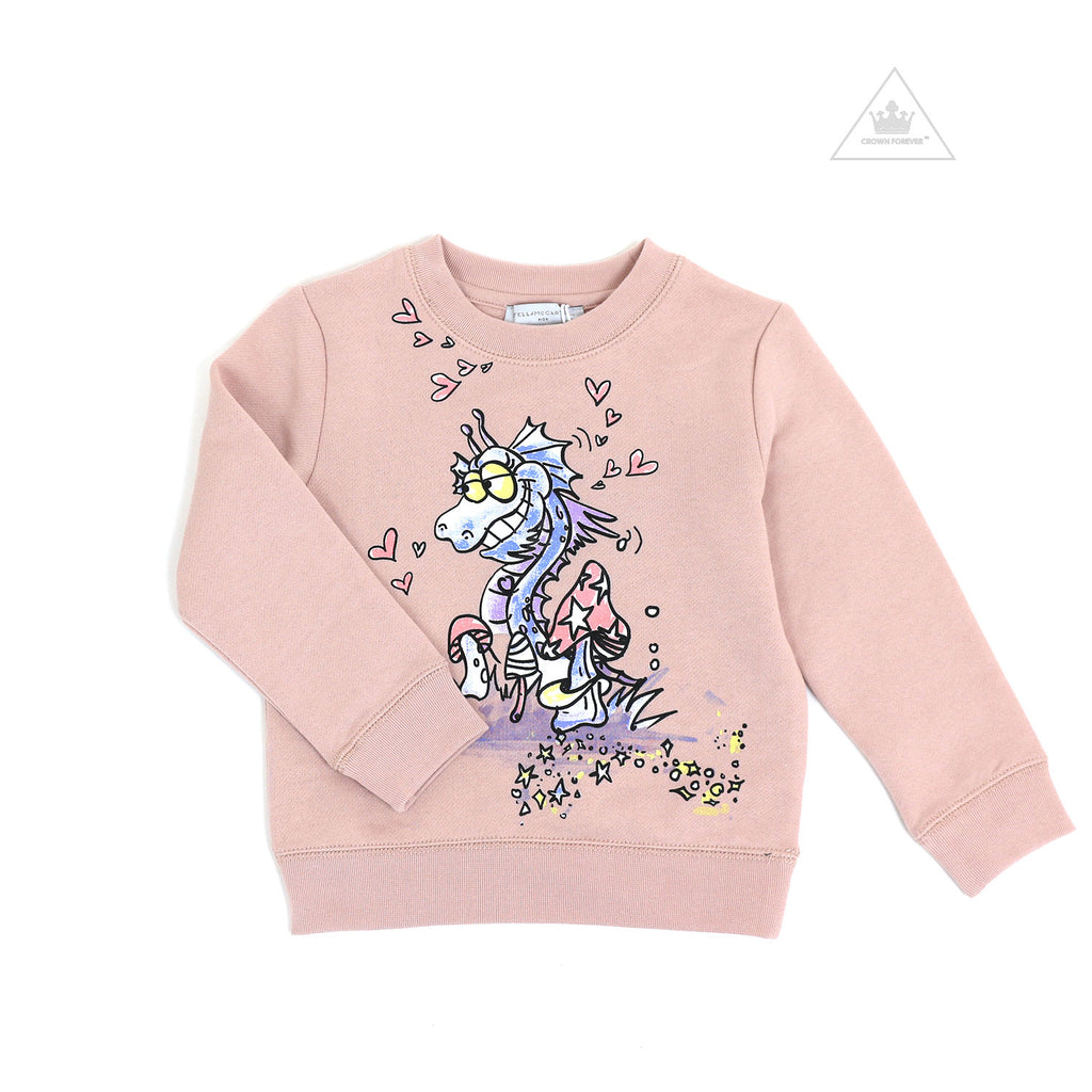 Stella McCartney Kid Girl Dragon In Love Sweatshirt