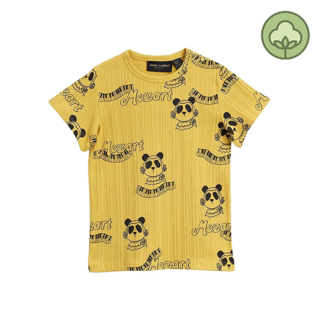 Mini Rodini Mozart Kids T Shirt Yellow